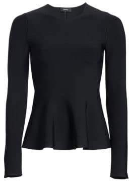 Theory Knit Peplum Top