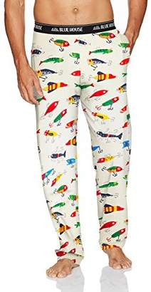 Hatley Little Blue House by Men's Jersey Pajama Pants
