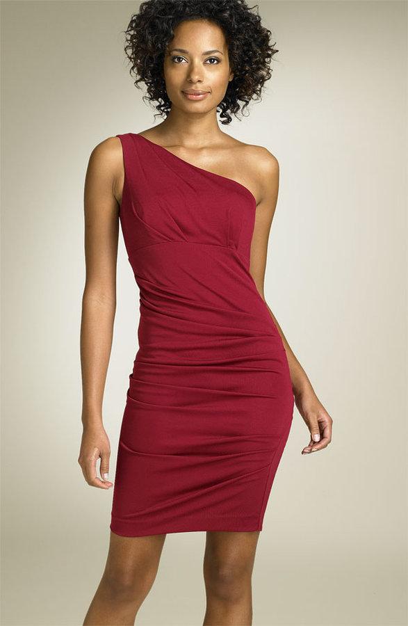 Nicole Miller One Shoulder Matte Jersey Dress