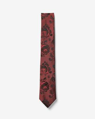 Express Narrow Floral Wool Tie
