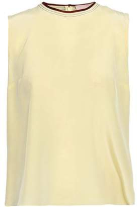 Roksanda Grosgrain-trimmed Silk Top