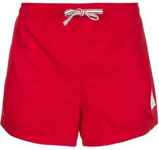 Thom Browne Grosgrain Side Seam Solid Nylon Swim Tech Short