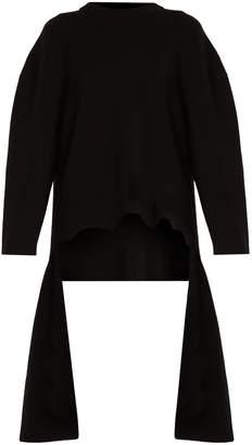 Balenciaga Draped crew-neck sweater
