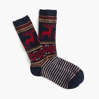 J.Crew Anonymous IsmTM wool reindeer socks