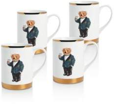 Ralph Lauren Thompson Mugs, Set of 4