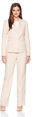 Le Suit Women's End 2 Bttn Peak Lapel Pant Suit