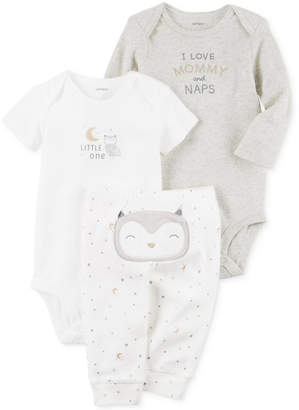 Carter's 3-Pc. Cotton Owl Bodysuits & Pants Set, Baby Boys & Girls (0-24 months) $11.98 thestylecure.com