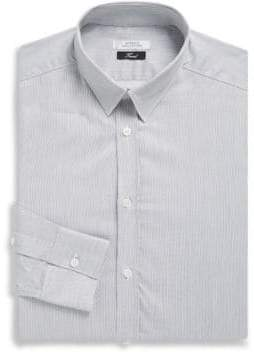 Versace Fine Stripe Cotton Dress Shirt