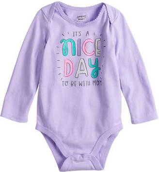 "Osh Kosh Baby Girl Jumping Beans ""Joy To The World"" Graphic Bodysuit"