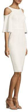 Black Halo Adara Cold Shoulder Sheath Dress $345 thestylecure.com