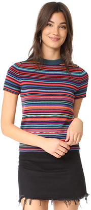 Paul Smith Multistripe Short Sleeve Sweater $250 thestylecure.com