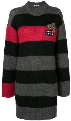 Miu Miu striped knit dress