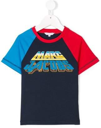 Little Marc Jacobs logo print colour block T-shirt