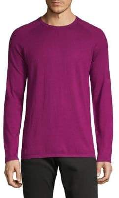 HUGO BOSS Crewneck Cotton, Silk & Cashmere Sweater