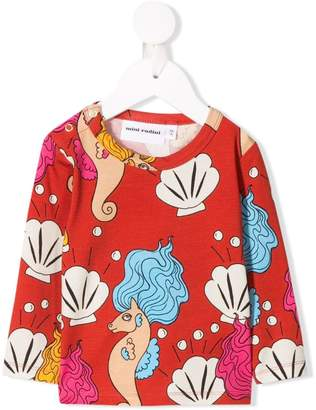 Mini Rodini sea horse printed sweatshirt