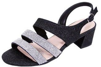 FLORAL Floral Women's Dorothy Extra Wide Width Chic Rhinestone Straps Dressy Party Heeled Sandals