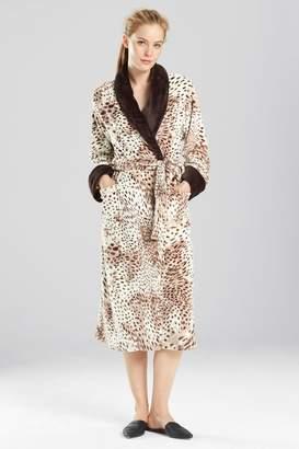 Natori N Snow Leopard Robe