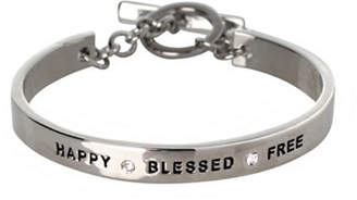 BCBGeneration Basic Replenishment Silvertone Happy Blessed Free Bracelet