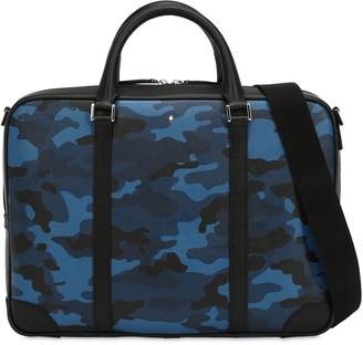 Montblanc Small Camouflage Leather Briefcase Case