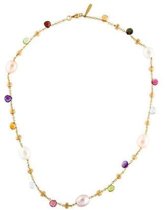 Marco Bicego 18K Pearl & Multistone Paradise Necklace