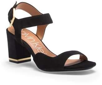 Calvin Klein Chantay Asymmetrical Suede Sandal