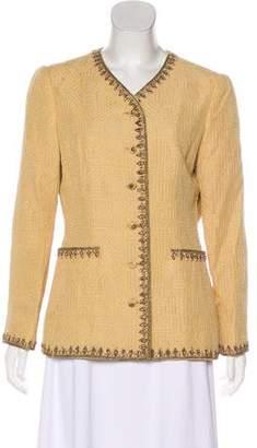 Oscar de la Renta Embellished Evening Jacket