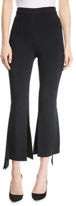 Cushnie et Ochs Salma Cropped Pants with Ribbon Slit Ankles