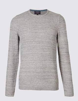 Marks and Spencer Pure Cotton Textured Twist Slim Fit Jumper