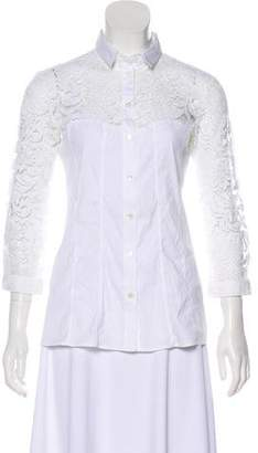 Burberry Long Sleeve Lace Top