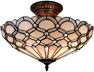 Tiffany & Co. AMORA Amora Lighting AM108CL17 Style Ceiling Fixture Lamp 17 In Wide