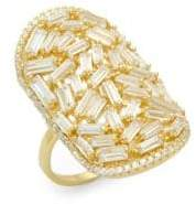 Saks Fifth Avenue Crystal and Sterling Silver Statement Ring