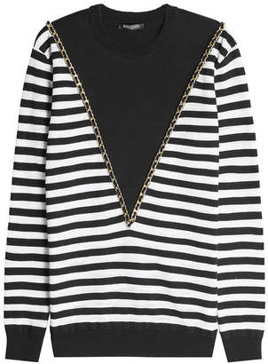 Balmain Chain Embellished Pullover