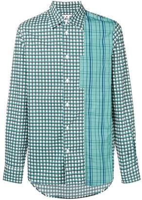 Marni contrast checked shirt