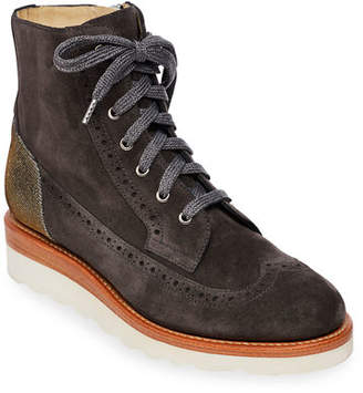 The Office of Angela Scott Women's Combat Lace-Up Boots