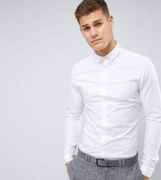 Asos TALL Skinny Shirt In White