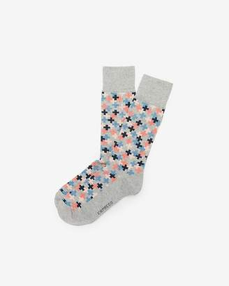 Express Plus Block Pattern Dress Socks