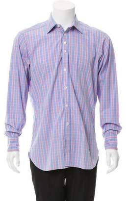 Turnbull & Asser Plaid Button-Up Shirt