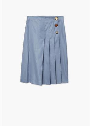 MANGO (マンゴ) - MANGO スカート .-- LINUS (グレー)