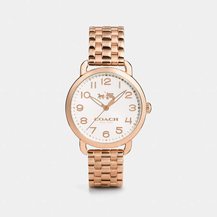 Coach   COACH Coach Delancey Rose Gold Sunray Dial Bracelet Watch