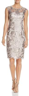 Adrianna Papell Embellished Lace Dress $169 thestylecure.com