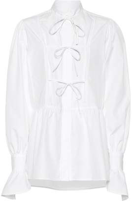 ALEXACHUNG Cotton tie blouse