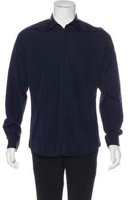 Hermes Woven Button-Up Shirt