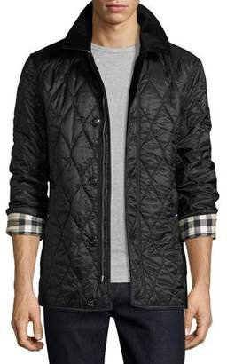 Burberry Corduroy-Collar Quilted Jacket, Black $850 thestylecure.com
