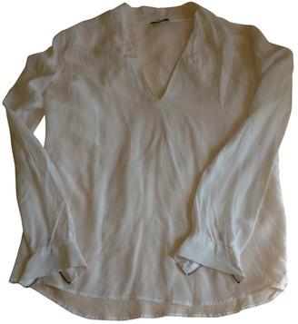 Ikks Ecru Silk Top for Women
