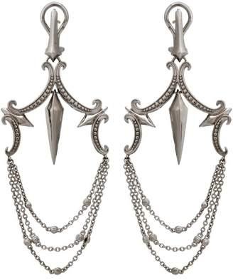 Stephen Webster 925 Sterling Silver Superstud Large Chandelier Earrings