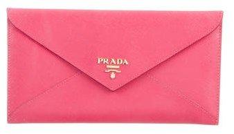 pradaPrada Saffiano Envelope Wallet