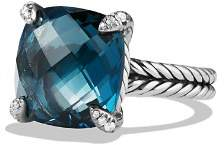 David Yurman Châtelaine Ring with Hampton Blue Topaz and Diamonds