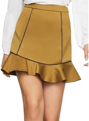 BCBGMAXAZRIA Satin Mini Skirt