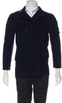 Paul Smith Wool Double-Breasted Peacoat