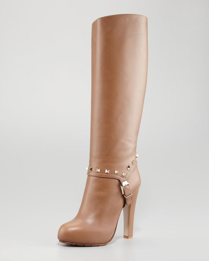 Valentino Rockstud Knee Boot